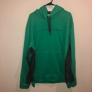 Nike livestrong thermafit pullover hoodie green